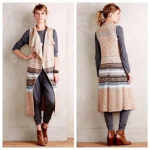 Sleeping on Snow Oullins Jacquard Vest Sweater S